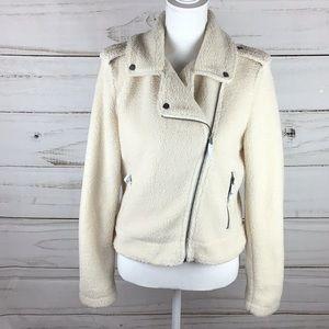 🆕🆕Max Studio Fuzzy Fur Ivory Jacket size Small